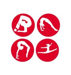 Four gymnasts vector
