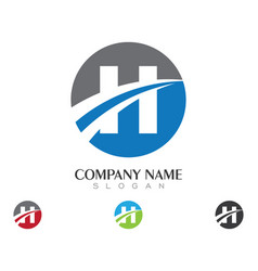 H letter faster logo template icon design vector