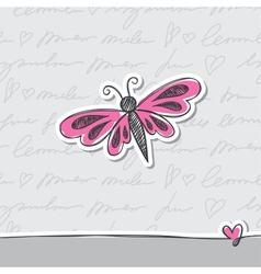 Hand drawn card vector
