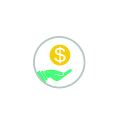 hand money logo vector image