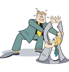 helping out business man vector image