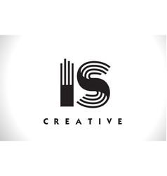 is logo letter with black lines design line letter vector image