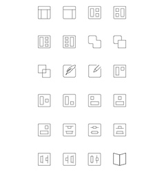 Line icons 3 vector image