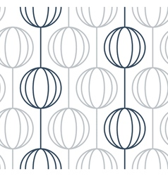 Linear balls garlands on white minimalistic design vector