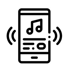listening music song in smartphone icon vector image