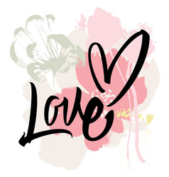 Love calligraphy lettering vector