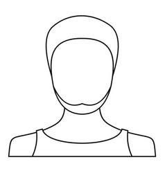 man avatar icon thin line vector image