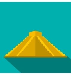 Mayan pyramid in Yucatan Mexico icon flat style vector