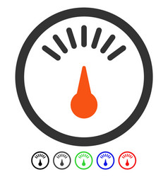 Meter flat icon vector