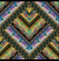 Modern geometric meander seamless pattern vector