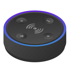 Modern smart speaker icon isometric style vector