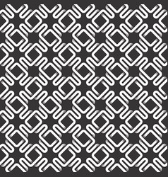 monochrome seamless pattern of intertwined vector image