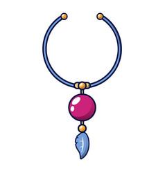 Necklace icon cartoon style vector