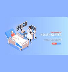 neurology isometric banner vector image