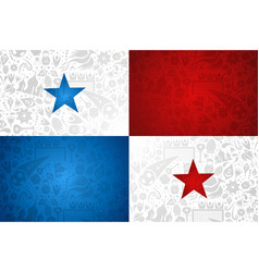 panama flag background for russian soccer event vector image
