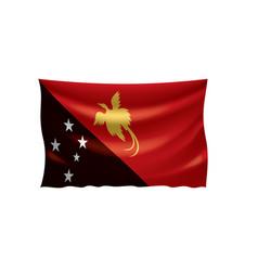 Papua new guinea flag on a vector