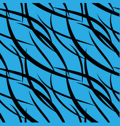 pattern of black intersecting smooth black lines vector image