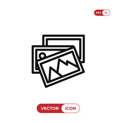 photo gallery icon vector image