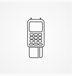 pos terminal icon sign symbol vector image