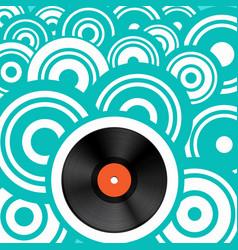 retro background with vinyl record lp vintage vector image