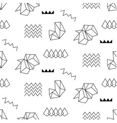 Retro memphis seamless pattern 80-90s style vector