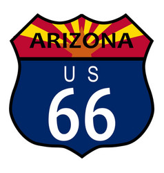 Route 66 arizona vector