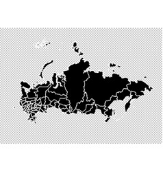 russia map - high detailed black map with vector image