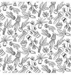 seamless pattern with collection house vector image
