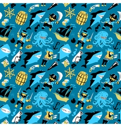 seamless pattern with pirates vector image