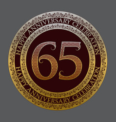sixty fifth anniversary celebration logo symbol vector image