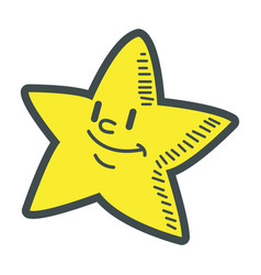 Smiling little star cartoon character image vector