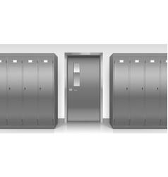 Steel lockers and door changing room cabinets vector