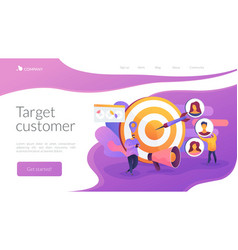 Target audience landing page concept vector