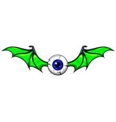 Tattoo flying eyeball vector
