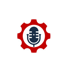tool podcast logo icon design vector image