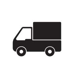 truck icon delivery vector image