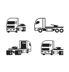 truck tractor in different perspective vector image