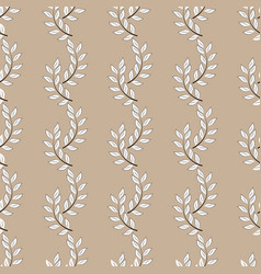 Twig seamless pattern vector