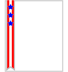 Usa flag ribbon patriotic frame vector