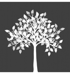 White tree silhouette vector