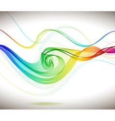 Abstract colorful background with wave vector image