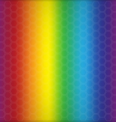 Abstract rainbow background with cells vector image