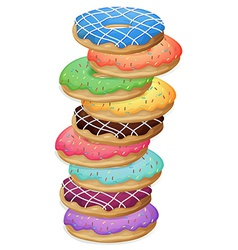 Colourful doughnuts vector image vector image