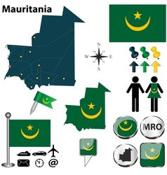 Mauritania map vector image vector image