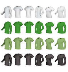 Polo shirts and t-shirts set vector