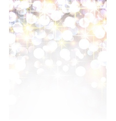 Silver shiny christmas background vector image