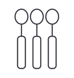 spoon line icon sign on vector image vector image