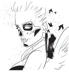sugar skull girl vector image