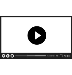 Web player on white background vector image