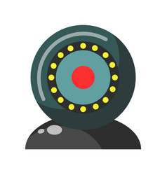 webcam round realistic colorful device isolated on vector image vector image
